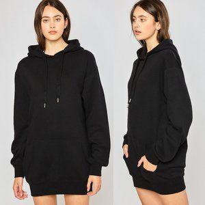 NEW Black Ultra SOFT Hoodie Sweatshirt Tunic Dress